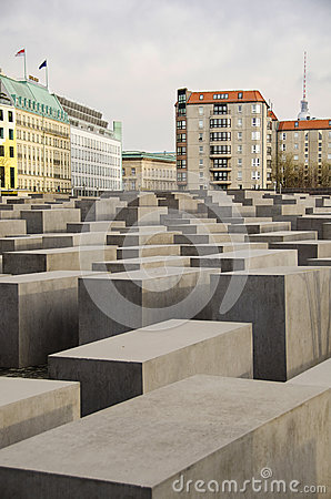 Holocaust Memorial in Berlin Editorial Stock Photo