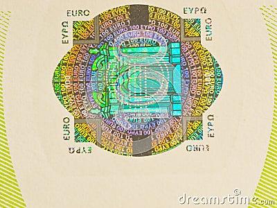 Hologram 100 euro