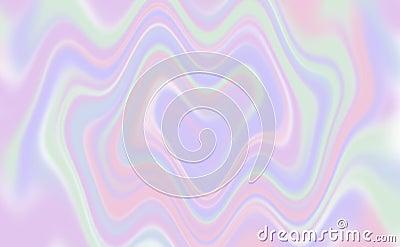 Holographic background heart shaped twirl - illustration Cartoon Illustration