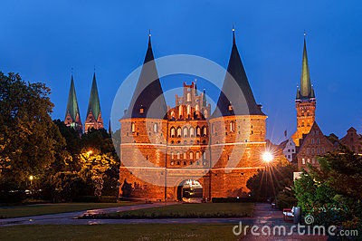 Holsten Gate, Lubeck, Germany