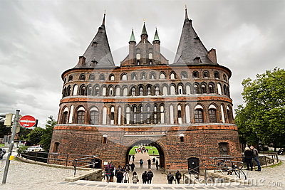 Holstentor in Lubeck Editorial Photography