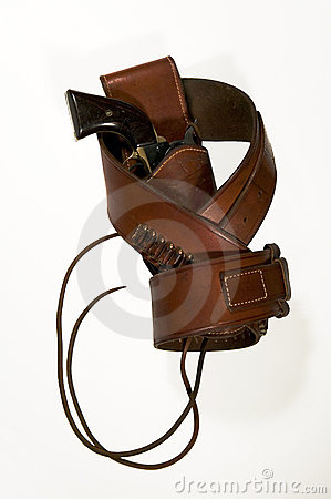 Holstered Single Action Revolver