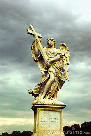 Holy Angel with a cross, Rome
