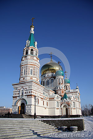 Free Holy Assumption Cathedral (Dormition Cathedral) On Cathedral Square In Omsk. Russia Royalty Free Stock Photos - 60819198
