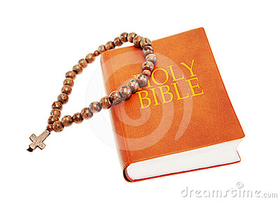 Holy Bible and beads