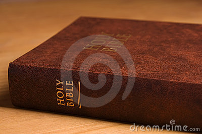 Holy Bible on desk