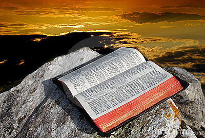 Holy Bible and skies