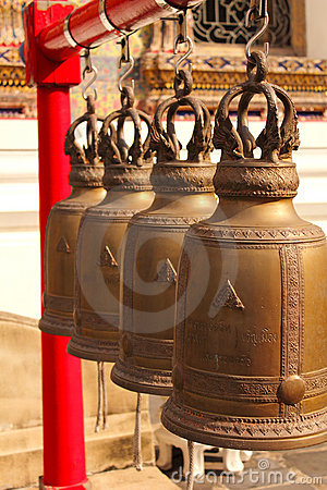 Holy brass bell in Temple of Dawn