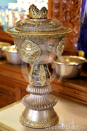 Holy buddhist pot
