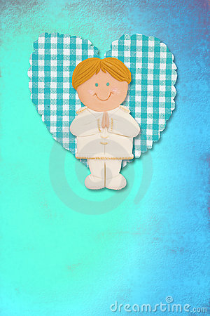Holy Communion Card,blonde boy