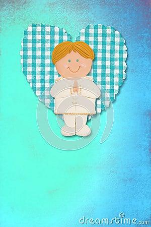 Holy Communion Card,blonde boy
