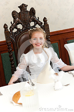 Holy communion girl portrait