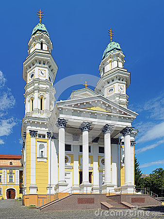 Free Holy Cross Cathedral In Uzhhorod, Ukraine Stock Image - 39330451