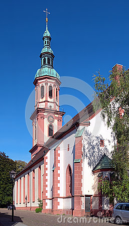 Holy Cross Church in Offenburg, Germany