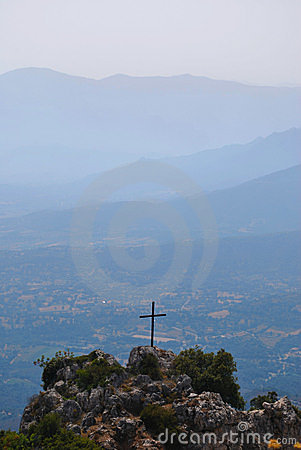 Holy cross and mountains