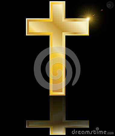 Free Holy Cross Symbol Of Christian Faith On A Blac Stock Images - 26269214