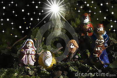 Holy Family Christmas Cards And Three Wise Men Stock Photo - Image: 21924030