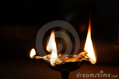 Holy Hindu Lamp