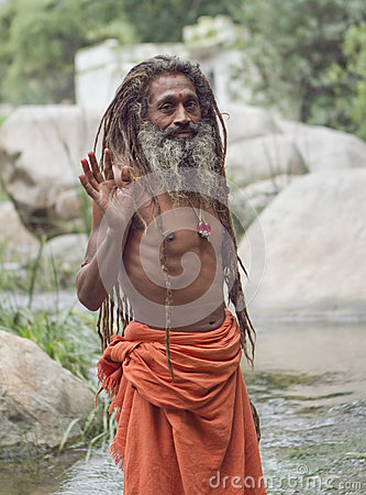 Holy Man Editorial Stock Photo