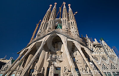 Holy Passion facade of Sagrada Familia church