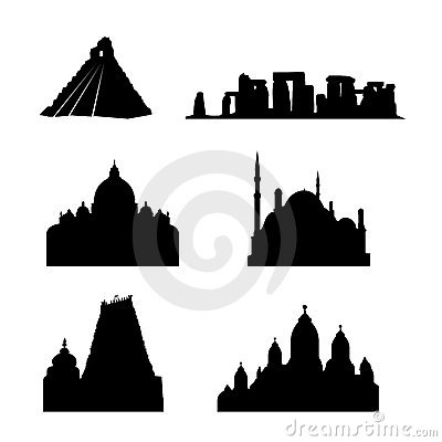 Holy places of the world vector