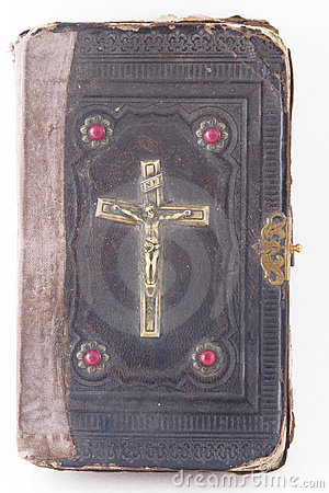 Free Holy Scripture With Crucifix On Cover Royalty Free Stock Photography - 15755667