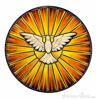 Free Holy Spirit Stained Glass Royalty Free Stock Photography - 22260117
