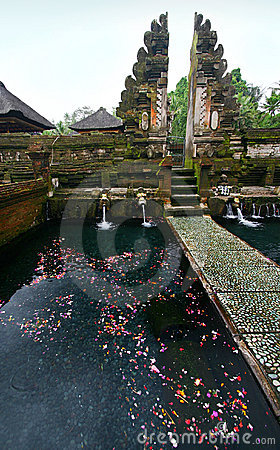 Holy spring in old Bali temple