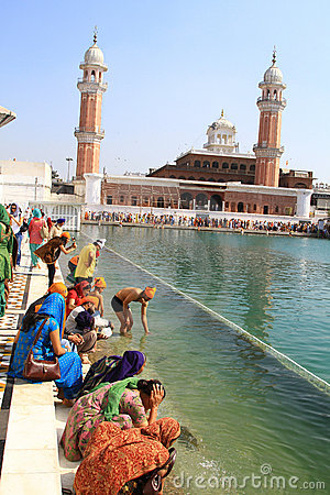 Holy water sarovar Editorial Photo