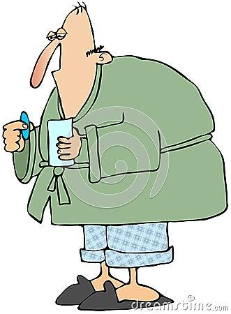 Hombre con la gripe