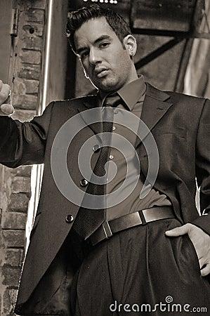 Hombre de negocios joven de la sepia