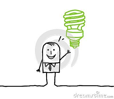 Hombre de negocios y idea verde