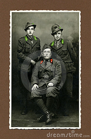 Hombre foto-militar antiguo de la original 1943
