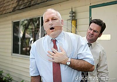 Hombre maduro - dolor de pecho