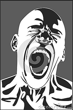 Hombre que grita