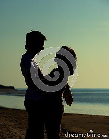Hombre y mujer en amor