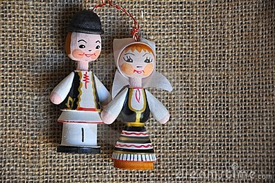 Hombre y mujer rumanos