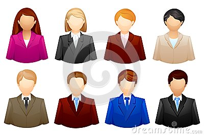 Hombres de negocios del icono