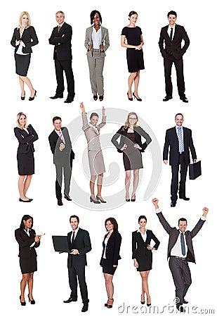 Hombres de negocios, encargados, ejecutivos