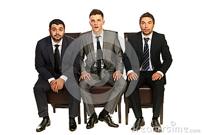 Hombres de negocios sorprendentes
