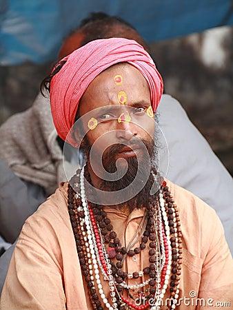 Hombres santos de la India Foto editorial