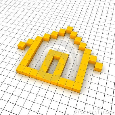 Home 3d icon in grid