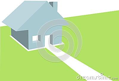 Home 3D Illustration House Copyspace