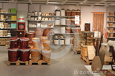 Home accesories interior store Editorial Image
