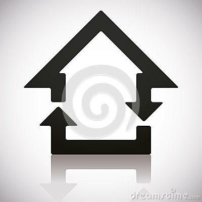 Free Home And Reload Icons Combined. Royalty Free Stock Photo - 42985185