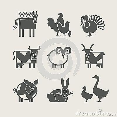 Free Home Animal Set Icon Royalty Free Stock Image - 24900166