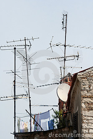 Free Home Antenna Royalty Free Stock Images - 1263679