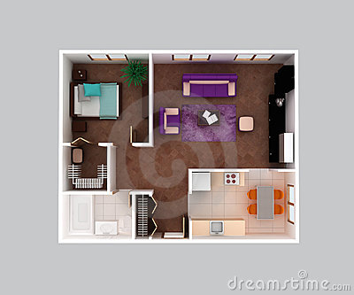 Home apartment floor plan 3d design