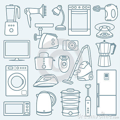 Free Home Appliances A Background Stock Photos - 31204753