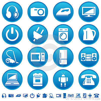 Free Home Appliances Icons Royalty Free Stock Photography - 20723597
